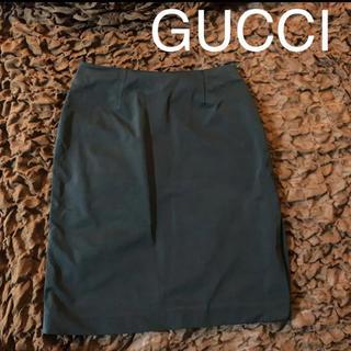 グッチ(Gucci)のGUCCI★サイドスリットがセクシーなタイトスカート(ひざ丈スカート)