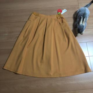 franche lippee - フランシュリッペ リッペひざ下スカート M/マスタード タグ付新品未使用
