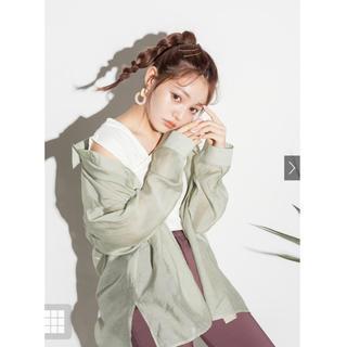 GRL - 新品 グレイル シアーオーバーシャツ