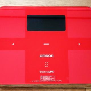 オムロン(OMRON)のスマホ対応・美品! オムロン体重計・体組成計 体脂肪・骨筋肉量・BMI計測(体重計/体脂肪計)