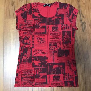 ヒステリックグラマー(HYSTERIC GLAMOUR)のヒステリックグラマー Tシャツ 半袖 赤 ストレッチ(Tシャツ(半袖/袖なし))