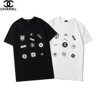 CHANEL - 🉐\2枚7500円/シャネルCHANEL半袖Tシャツ黒白#08