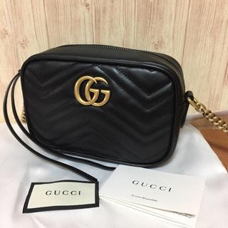 Gucci -  GUCCI ◓◓GGマーモント レザー ショルダ
