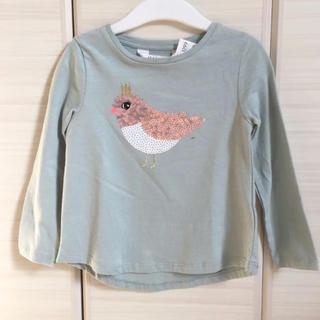 エイチアンドエム(H&M)のH&M 100 スパンコールトップス ロンT バード(Tシャツ/カットソー)