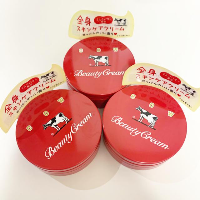 COW(カウブランド)の【新品未使用未開封】牛乳石鹸 赤箱ビューティークリーム 3個セット コスメ/美容のボディケア(ボディクリーム)の商品写真