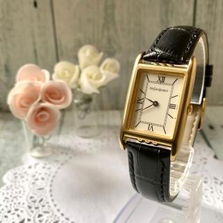 サンローラン(Saint Laurent)の【動作OK】Yves Saint Laurent 腕時計 スクエア ボーイズ 金(腕時計(アナログ))