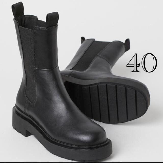 H&M(エイチアンドエム)のH&Mブーツ40 エイチアンドエム h&m VERY掲載 チェルシーブーツ レディースの靴/シューズ(ブーツ)の商品写真