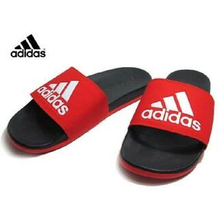 adidas - 新品 送料込み アディダス 黒 アディレッタ 26.5センチ ゴールド サンダル