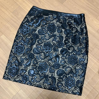 グレースコンチネンタル(GRACE CONTINENTAL)のグレースコンチネンタル フェイクレザースカート(ひざ丈スカート)