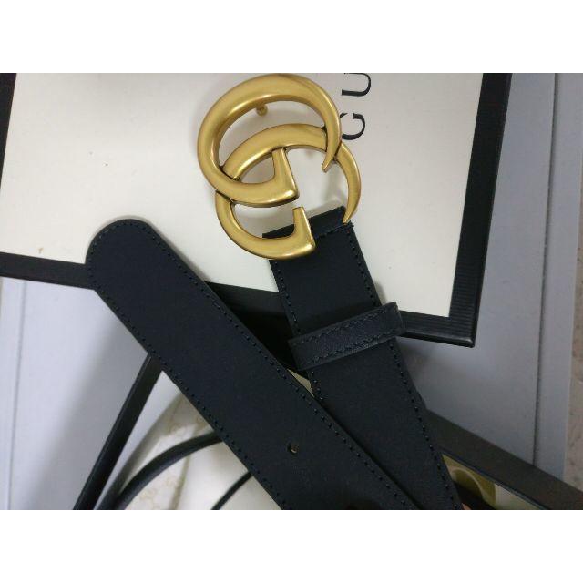 Gucci(グッチ)のGUCCI レザー ベルト(ダブルG バックル) メンズのファッション小物(ベルト)の商品写真