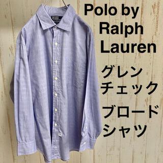 ラルフローレン(Ralph Lauren)のラルフローレン ギンガムチェック ブロード シャツ ビッグサイズ サックスブルー(シャツ)