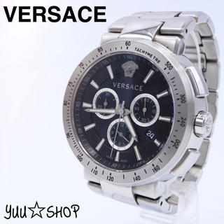ヴェルサーチ(VERSACE)の人気【付属品】ヴェルサーチ メデューサ クロノグラフ 電池新品 メンズ 腕時計(腕時計(アナログ))