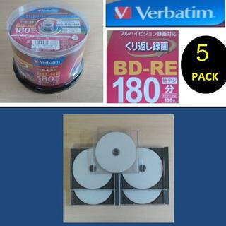 三菱ケミカル - 【送料込】三菱ブルーレイBD-RE 繰返し録画25G 5枚 使用品ケース入