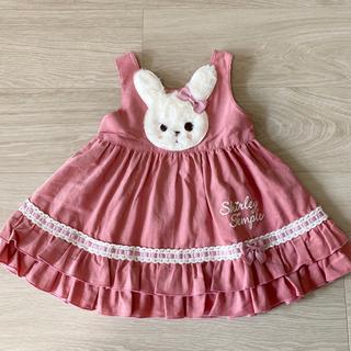 Shirley Temple - シャーリーテンプル ウサギジャンパースカート 80