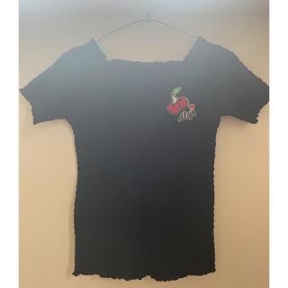 ラブトキシック(lovetoxic)のアルジー オフショル リブカットソー (Tシャツ/カットソー)