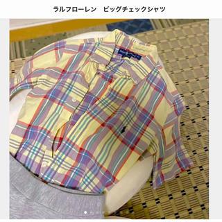 ラルフローレン(Ralph Lauren)のラルフローレン ビッグチェックシャツ(シャツ/ブラウス(半袖/袖なし))