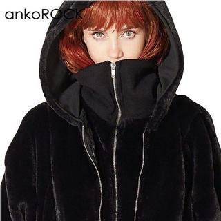 ankoROCK - ankoROCK ショートファーダブルフロントパーカー -スーパービッグ-