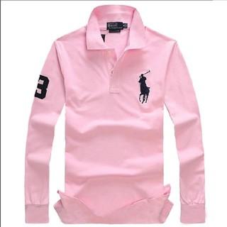 POLO RALPH LAUREN - 人気新品 ラルフローレン メンズ POLOシャツ 無地 コットン 長袖 色を選択