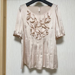 ANAYI - ANAYI  光沢フリルブラウス 日本製