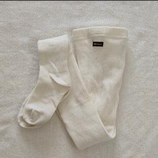 ミキハウス(mikihouse)のミキハウス 白タイツ ホワイト アイボリー(靴下/タイツ)