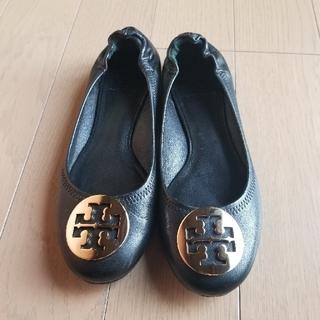 トリーバーチ(Tory Burch)のToryBurchレザーフラットバレーシューズ サイズ7.5(ローファー/革靴)