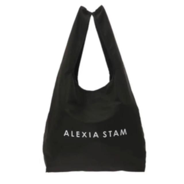 ALEXIA STAM(アリシアスタン)のアリシアスタン エコバッグ ブラック M レディースのバッグ(エコバッグ)の商品写真