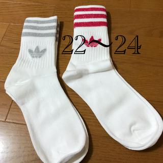 アディダス オリジナルス ソックス  二足 22〜24