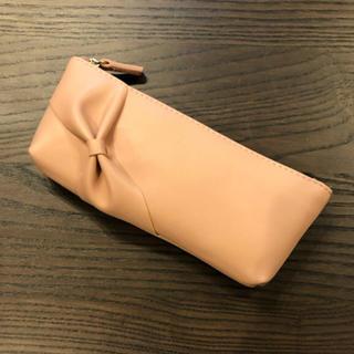 Francfranc - 【新品・未使用】フランフラン メガネケース ペンケース リボン ピンクe