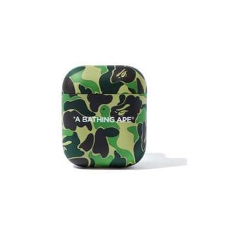 アベイシングエイプ(A BATHING APE)のCASE AIRPODS 1-2 Bape ABC CAMO GREEN ケース(iPhoneケース)