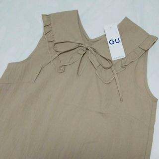 【新品タグ付き】 GU ビッグカラーブラウス シャツ S