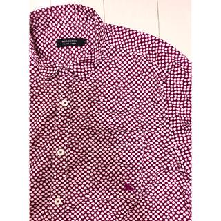 バーバリーブラックレーベル(BURBERRY BLACK LABEL)の美品 希少作品 バーバリーブラックレーベル ドット ホース刺繍 ドレスシャツ(シャツ)