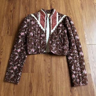 GUNNE SAX - ガニーサックス 70年代 花柄 レース キルト ベロア ジャケット