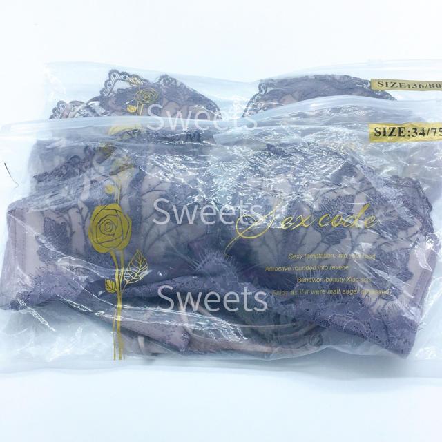 ブラショーツセット 上下 育乳 ノンワイヤー ナイトブラ  韓国 SNS 話題 レディースの下着/アンダーウェア(ブラ&ショーツセット)の商品写真