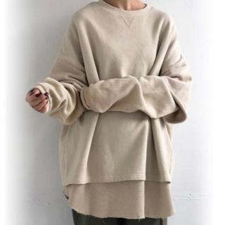 TODAYFUL - TODAYFUL Layered Cotton Sweat アイボリー