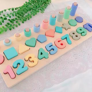 木製 知育玩具 数字 記号