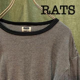 ラッツ(RATS)のRATS ボーダーカットソー サーマル Sサイズ(Tシャツ/カットソー(七分/長袖))