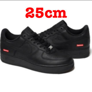 シュプリーム(Supreme)のSupreme Nike Air Force 1 black 25cm(スニーカー)