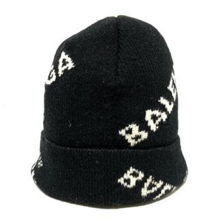バレンシアガ(Balenciaga)のBALENCIAGA(バレンシアガ) ニット帽 黒×白(ニット帽/ビーニー)