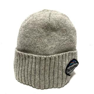 パタゴニア(patagonia)のパタゴニア ニット帽 ALL ライトグレー(ニット帽/ビーニー)