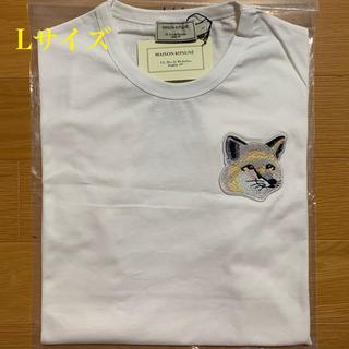 メゾンキツネ(MAISON KITSUNE')のメゾンキツネ ビッグパステルフォックスヘッドパッチ Tシャツ 白 Lサイズ(Tシャツ/カットソー(半袖/袖なし))