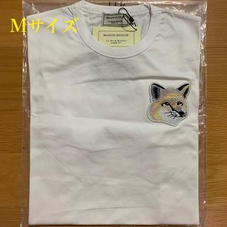 メゾンキツネ(MAISON KITSUNE')のメゾンキツネ ビッグパステルフォックスヘッドパッチ Tシャツ 白 Mサイズ(Tシャツ/カットソー(半袖/袖なし))