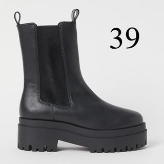 エイチアンドエム(H&M)のh&m チェルシーブーツ 新品未使用 39(ブーツ)