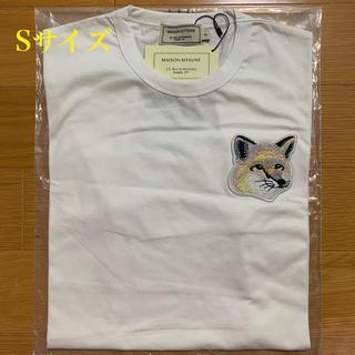メゾンキツネ(MAISON KITSUNE')のメゾンキツネ ビッグパステルフォックスヘッドパッチ Tシャツ 白 Sサイズ(Tシャツ/カットソー(半袖/袖なし))