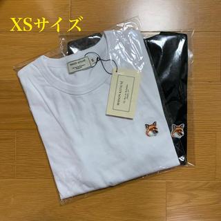 メゾンキツネ(MAISON KITSUNE')のメゾンキツネ フォックスヘッドパッチ Tシャツ 白黒セット XSサイズ(Tシャツ/カットソー(半袖/袖なし))