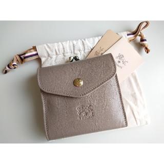 IL BISONTE - 新品 イルビゾンテ がま口 二つ折り財布 グレー