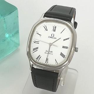 OMEGA - 綺麗 オメガ 尾錠 ガラス 針 部品取り 稼動 メンズ 腕時計 レディース