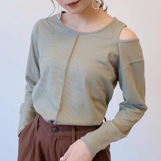 アンティローザ(Auntie Rosa)の【新品】VANNIE U肩スリットワッフルロンT(Tシャツ(長袖/七分))