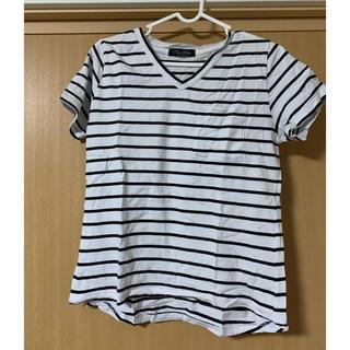 ワンウェイ(one*way)のボーダーVネックTシャツ(Tシャツ/カットソー(半袖/袖なし))