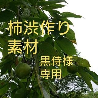 無農薬 青柿 柿渋柿 黒侍様専用です。(フルーツ)