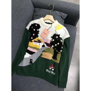 ミュウミュウ(miumiu)の★ミュウミュウ★ 装飾付 ラムウール セーター(ニット/セーター)